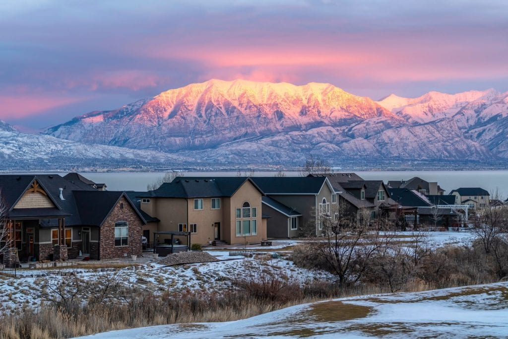 utah homes with furnace maintenance needs and mountains in back