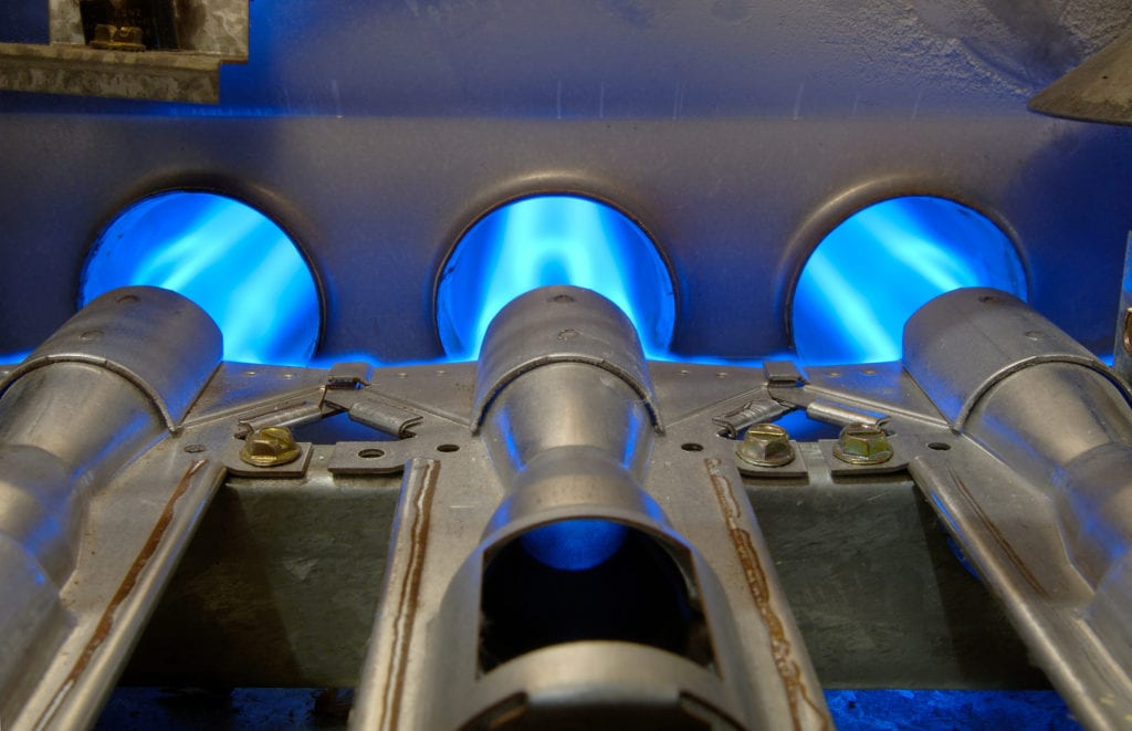 old furnace gas energy flames