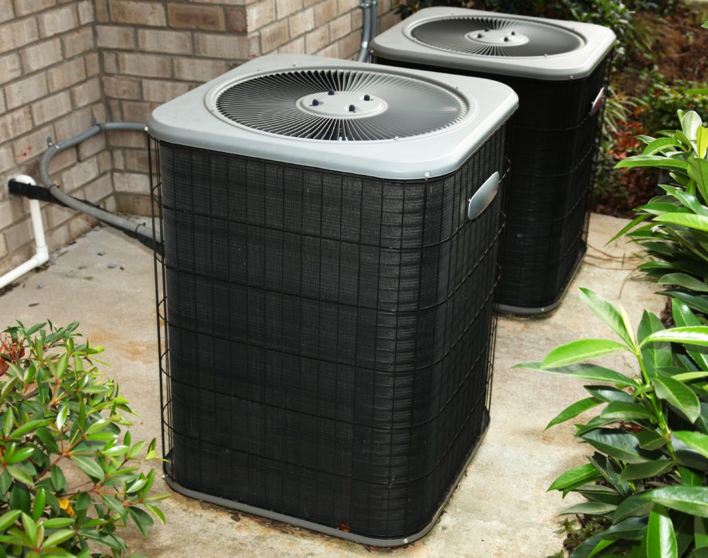 Newly installed residential air conditioner in Salt Lake City home